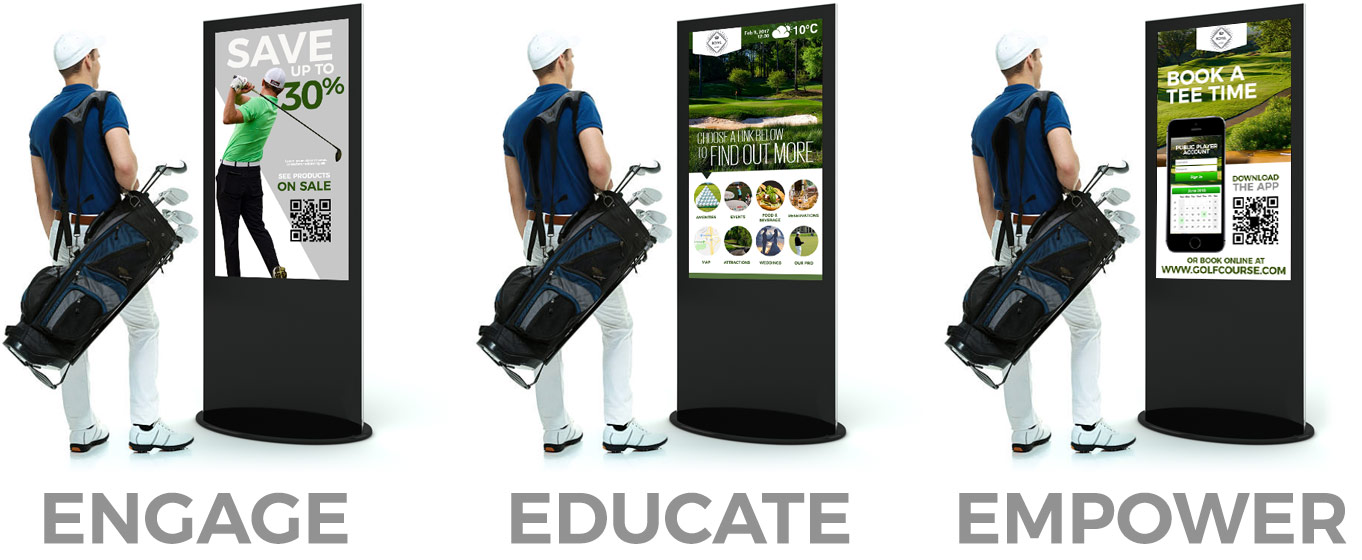 digital Signage Golf Uses