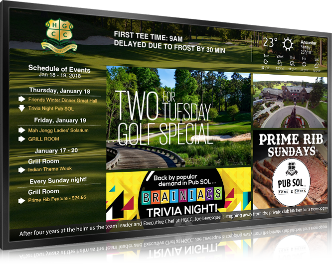digital Signage Golf