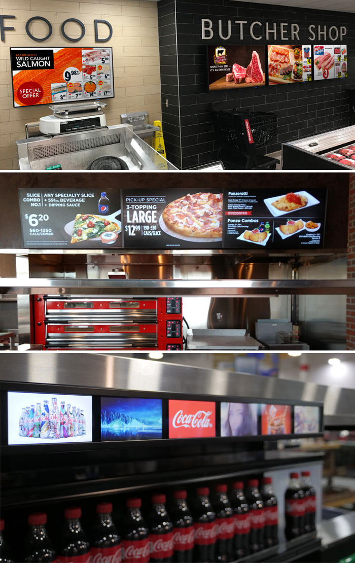 digital signage FOOD & BEVERAGE