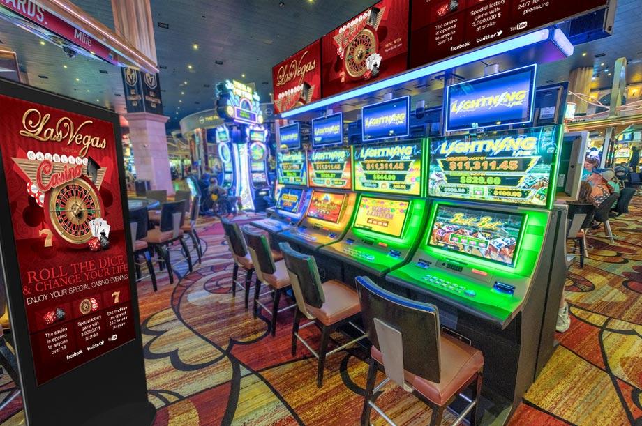 digital signage casino-gaming