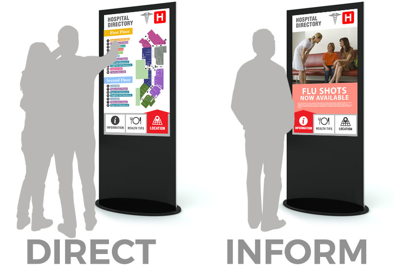 healthcare digital signage kiosks