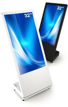 Sandwichboard digital kiosk