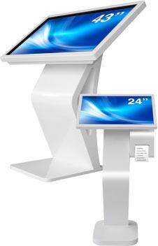 Angled interactive Kiosk