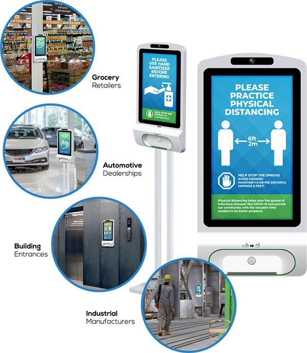 hand sanitizer kiosk mobile