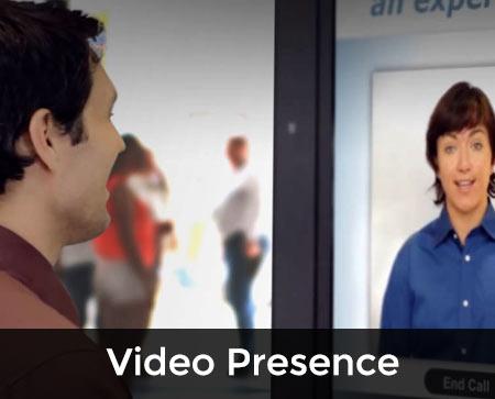 VIDEO PRESENCE button