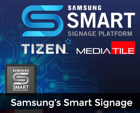 SAMSUNG'S SMART SIGNAGE PLATFORM button