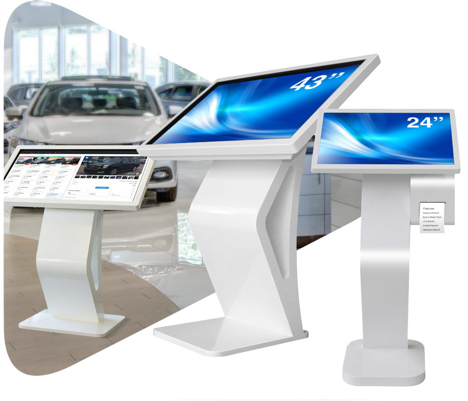 ANGLED TOUCH INTERACTIVE KIOSK banner