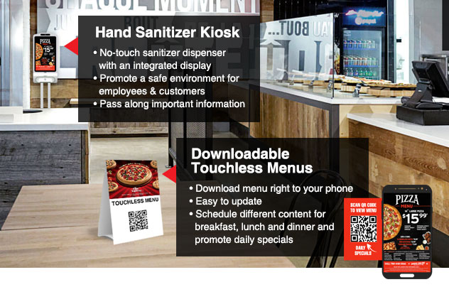 digital signage in restaurants