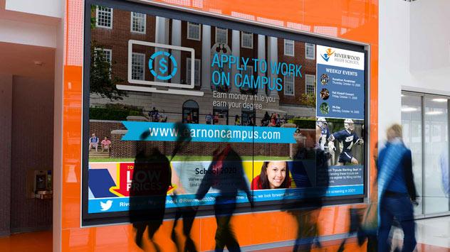 multi-zoned digital signage image