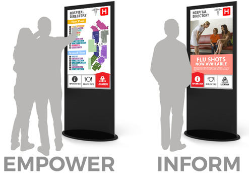 healthcare digital signage kiosks