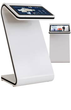 horizontal touch all-in-one kiosk thumb